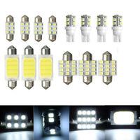 14 x White Car Interior COB LED Lights Package Kit T10 & 31mm 42mm Bulbs Lamps C