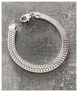 Bracelet Maille Américaine 19CM En Argent 925/000 - Poinçonné