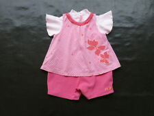 12 mois - ensemble 3 en 1 : haut + robe + bloomer - MARESE - fille 1 an