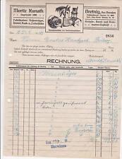 Moritz Kunath 1924 Polenz Litho Alte Rechnung Bretnig Dresden Pferdefuttersäcke