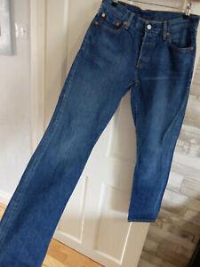 "LEVIS● size 10 W27"" L32"" ● denim blue straight leg jeans womens ladies"