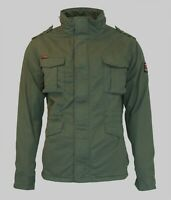 Superdry Mens New Classic Rookie Jacket Coat Casual Full Zip Green Khaki