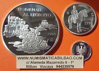 España 1+5+25 EUROS 1998 PLATA HOMENAJE AL EJERCITO 6 ONZAS OZ NO ESTUCHE FNMT