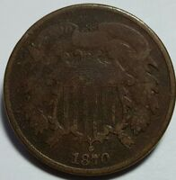 1870 United States 2-Cent Piece - Good