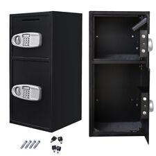 Double Door Digital Depository Safe & Cash Drop Security Safe Box Drawer