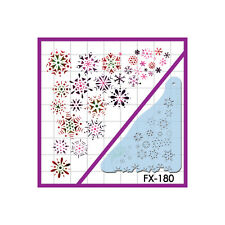 European Body Art Snowflakes Makeup Airbrush Airgun Face Body Painting Stencils