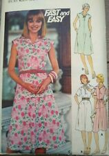 """Vintage Butterick Easy Dress Top Skirt Sewing Pattern #4743 Bust 36"""" 92cms"""