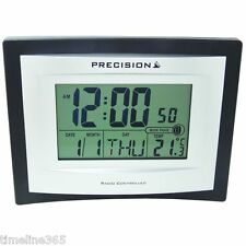 Precision LCD Radio Controlled  Alarm Wall Desk Clock with Temperature  AP046