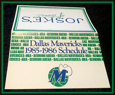 1985-86 DALLAS MAVERICKS JOSKERS OF TEXAS BASKETBALL POCKET SCHEDULE FREE SHIP