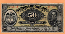 COLOMBIA 50 FIFTY PESOS 1910 p317 SERIE B