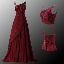 Retro Weinrot Kleid Ballkleid Cocktailkleid Lang Abendkleid Gr 36 38 40 42 44 46