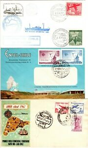 Chile Six (6) First Day Covers - Nice Variety - See Both Scans