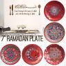 10PCS Eid 7inch Ramadan Plates Smaller Snack Size Dinner Party Decor Tableware