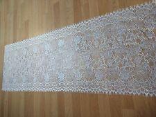 150x50cm Dentelle chantilly blanc cassé accessoires cérémonies mariage REF 1140