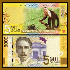 Costa Rica 5000 (5,000) Colones, 2009 P-276 Monkey Unc