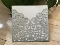 Personalized Luxury Lace Laser Cut Wedding Invitation Cards Free Envelopes Party