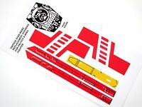 very nice and sharp! Kenner Jurassic Park red and yellow Logo sticker set