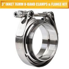 """V-BAND CLAMP+flange completo in acciaio inox di scarico Turbo Flessibile 3"""" 76mm"""