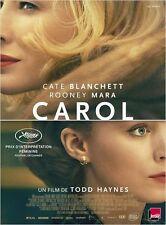 Affiche Roulée 40x60cm CAROL 2016 Cate Blanchett, Rooney Mara, Kyle Chandler NEU