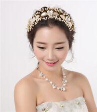 Gold Wedding Bridal Tiara Headband Headpiece Rhinestone Bride Hair Accessories