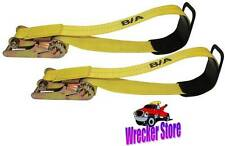 3″ Heavy Duty Underlift Tie Down Straps and Ratchets for Wrecker, Tow Truck, etc