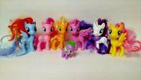 "6 Movie My Little Pony MLP Brushable 3"" Lot Rarity Shutterfly Rainbow Twilight"