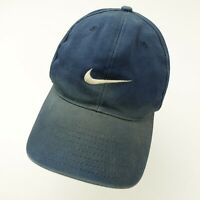 Vintage Nike White Red Black Tag Navy Blue Snapback Adult Cap Hat
