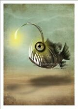'Mr. Fishy on his Own' Angler Fish Deep Sea Creature Monster Lantern 5x7