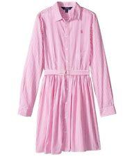 Ralph Lauren Bengal-Stripe Cotton Shirtdress, Girls - Size 16