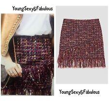 Zara Tweed Skirt - Zara Boucle Skirt - Zara Frayed Skirt - Size (small) S - BNWT