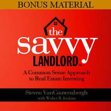 Savvy Landlord Audio Bonus CD Real Estate Investor Rich Dad Property Manager NEW