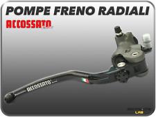 POMPA FRENO RADIALE ACCOSSATO ALLUMINIO FORGIATA 19x18 CON LEVA RST STRADA PISTA