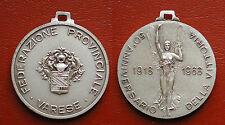 MEDAGLIA 1918/1968 VITTORIO VENETO FEDERAZIONE PROVINCIALE VARESE NASTRO AZZURRO