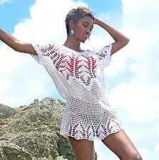 Handmade crochet dress see trough 05. Bikini cover up