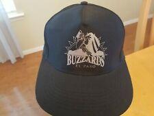 vtg NEW EL PASO BUZZARDS minor league hockey adjustable baseball cap Rhinos