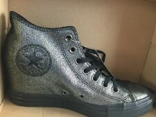Converse Chuck Taylor Lux Mid Silver Black 550669c Women 8 New!