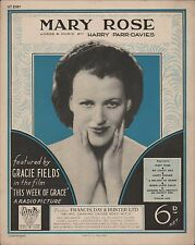 """Gracie CAMPI. """"Mary Rose 'questa settimana di GRAZIA RADIO foto 1933 mff.19"""