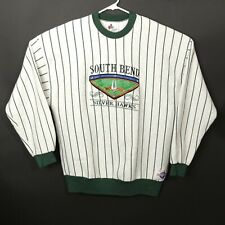 South Bend Silverhawks Mens XL Long Sleeve Vintage MiLB Sweatshirt Made in USA