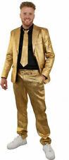 ★ Weichnachten Gold Sakko Kostüm Metallic Herren 40-62 Partyanzug Sylvester
