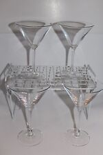 Cristal d'Arques 24% Lead Crystal 10 oz Martini Glasses Set of 4
