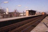 Unidentified Railroad Train Station CORAL PARK? Original 1966 Photo Slide