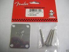 "NEW - Fender 70 Vintage Strat ""F"" Neckplate - CHROME, 099-1448-100"