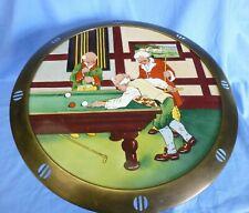 WMF Antique Cake Platter w/Stand Germany Art Nouveau Brass/Porcelain Marked EUC