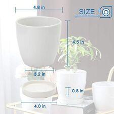 New listing Plant Pots–4.7� Glazed Ceramic Flower Pot with Drainage Holes and Ceramic Tray