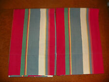 "RALPH LAUREN ""CAPE STRIPE RED ""PAIR OF STANDARD  PILLOWCASES-100% COTTON-STRIPES"