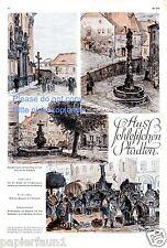 Schlesische Städte Eine Seite Kunstdrucke von 1928 Goldberg Liebenthal Schlesien
