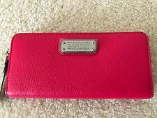 NWT Marc by Marc Jacobs zip around pebble leather wallet color Singing Rose