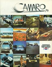 1975 CHEVROLET CAMARO 8-page illustrated brochure with specs