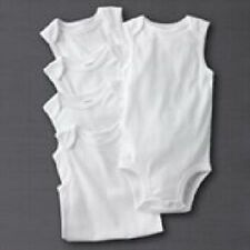 New Carter's 5 Pack Solid White Tank Style Bodysuits NWT Size NB 3 6 9 12 18 24m