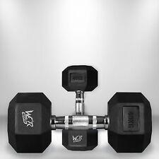 40kg Hex Dumbbell Set Rubber Encased Ergo Weights Hexagonal Dumbbell Gym Weight